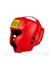 Benlee Кожаный боксерский шлем TYSON Красный