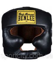Benlee Кожаный боксерский шлем TYSON Черный