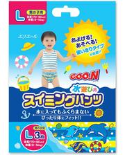 GOO.N Трусики-подгузники для плавания для мальчиков 9-14 кг, ростом 70-90 см (размер L, 3 шт) (753644)