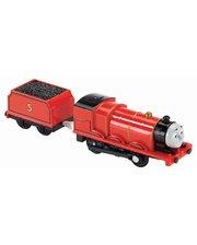 Fisher Price Моторизированный поезд Томас и друзья, Thomas & friends, серия TrackMaster, Mattel, Джеймс (BMK87-6)