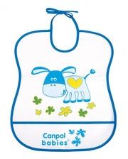 Canpol babies Слюнявчик пластиковый мягкий 2/919, синий (2/919-3)