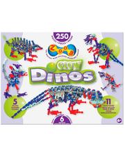 ZOOB Конструктор Glow Dinos, 250 деталей, 14004 (14004)