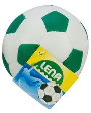 LENA Мяч футбольный мягкий, 10 см, Lena, бело-зеленый (62176-4)