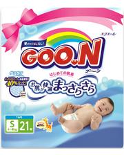 GOO.N для детей 4-8 кг (размер S, на липучках, унисекс, 21 шт) (753752)