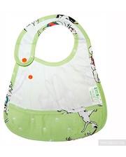 ЭКО-ПУПС Слюнявчик с карманом Экопупс Premium 21х30 см белый (СЛ2б)