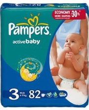 PAMPERS Active Baby Midi 3...