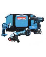 Набор аккумуляторных инструментов Makita LXT315 включает в себя...