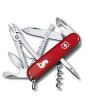 Victorinox - Angler 91 мм 18 предметов красный лого + штопор + плоск. + рыба Vx13653.72
