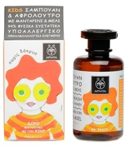 APIVITA КИДС для мытья волос и тела с мандарином и медом 250 мл