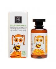 APIVITA EКO БIO БAБИ & Кидс для мытья волос и тела с календулой и медом 200 мл