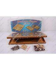 BK Toys Большие деревянные шахматы 2 в 1