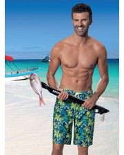 Мужские пляжные плавательные шорты Бермуды