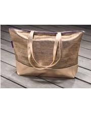 Золотая пляжная сумка