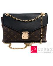 Женская сумка конверт Lous Vuitton - черный цвет, Малый (есть размеры)