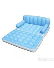 BESTWAY BW Диван-кровать 75038 (2шт) 5 в 1, насос, 188-152-64см, (голубой)