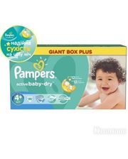 PAMPERS Active Baby-Dry Maxi+ (9-16 кг) 96 шт. (4015400737315)