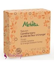 MELVITA Soap White Camellia & Orange Blossom Honey