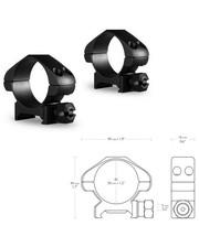 Hawke Кольца Precision 30mm/Weaver/Low
