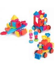 Bristle Blocks Конструктор-бристл - СЕМЬЯ (85 деталей и фигурок, в кейсе) (3071Z)