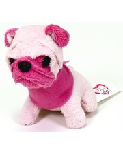 Chi Chi Love Мини-модница Мопс с розовой мордочкой, собачка с повязкой, 10 см. Chi Chi Love, мопс с розовой мордочкой (589 0208-4)