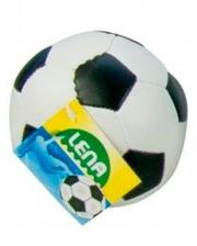 LENA Мяч футбольный мягкий (бело-черный), 10 см, (62176-1)