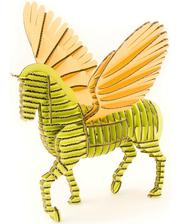 """KAWADA 3D пазл из гофрокартона D-torso """"Пегас"""", зелено-желтый (4580238619282)"""