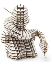 "KAWADA 3D пазл из гофрокартона D-torso ""Змея"", белый (4580238618568)"