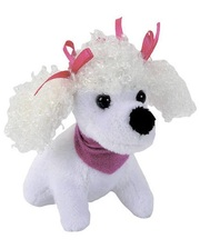 Chi Chi Love Мини-модница Пудель, белая собачка, с повязкой, 10 см. Chi Chi Love, пудель белый (589 0208-8)