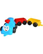 Технок Паровоз с вагончиком Максик голубой (2339-1)