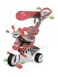 Smoby Металлический велосипед Вояж с козырьком, багажником и сумкой (434208)
