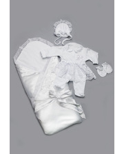Модный карапуз Комплект на выписку для новорожденных белый (для девочки) (03-00489-0)