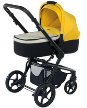 FoppaPedretti Универсальная коляска 3 в 1 3Chic Black/Yellow (9700343003)