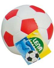 LENA Мяч футбольный мягкий, 10 см, Lena, бело-красный (62176-3)