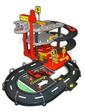 BBURAGO Игровой набор - ГАРАЖ FERRARI (3 уровня, 2 машинки 1:43) (18-31204)