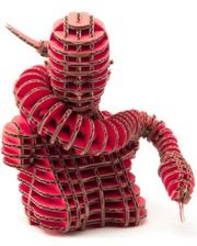"""KAWADA 3D пазл из гофрокартона D-torso """"Змея"""", красный (4580238618582)"""