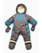 Модный карапуз Детский зимний комбинезон-трансформер на меху для мальчика (03-00523)