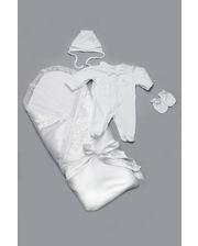 Модный карапуз Комплект на выписку для новорожденных белый (для мальчика) (03-00490-0)
