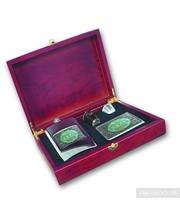 S.Quire Набор подарочный SQuire фляга стопки в чехле воронка и портсигар в деревянной коробке (SET24 1308YB-SW02)