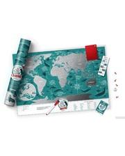 1DEA.me Скретч карта мира Travel Map Marine World на английском языке + подарок Набор скретч открыток (MW)