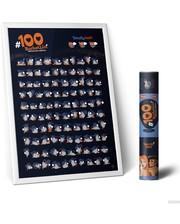 Mot1ve.me Мотивационный скретч постер #100дел Kamasutra edition + подарок Набор скретч открыток (100K)
