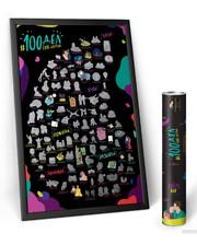 Mot1ve.me Мотивационный скретч постер 100 дел Love Edition + подарок Набор скретч открыток (100L)
