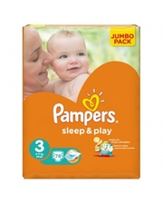 PAMPERS Sleep&Play Midi 3 (4-9 кг) JUMBO PACK 78 шт.