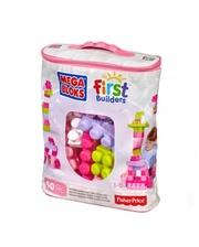 Mega Bloks розовый в сумке, 60 деталей