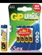 Батарейки GP Ultra Plus Alkaline 24AUP AAA, 4 шт.