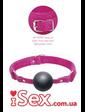 Кляп из резинового шарика розовый