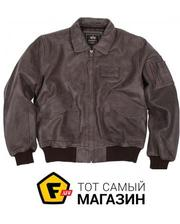 Alpha Industries CWU 45/P Leather Jacket Brown, S (MLC21012P1)