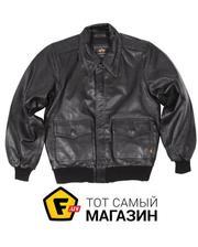 Alpha Industries A-2 Leather Jacket Black, L (MLA21019P1)