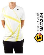 Nike Rafa Ace Court Top XL, white/yellow(424979-100)