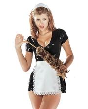 Sharon Sloane Латексный костюм горничной 1906S