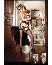 Baci Lingerie Дерзкие чулки в сетку и кружевной подвязкой Black Lace Garter Stockings